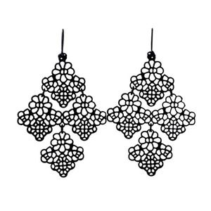 Gorgeous Black Hollowed Out Earrings